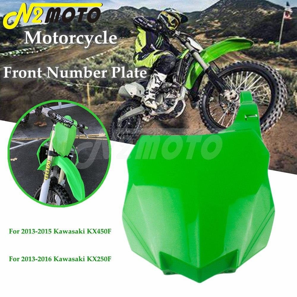 Startnummerntafel Verkleidung number plate Kawasaki Kxf Kx250f Kx450f 13-15 gr