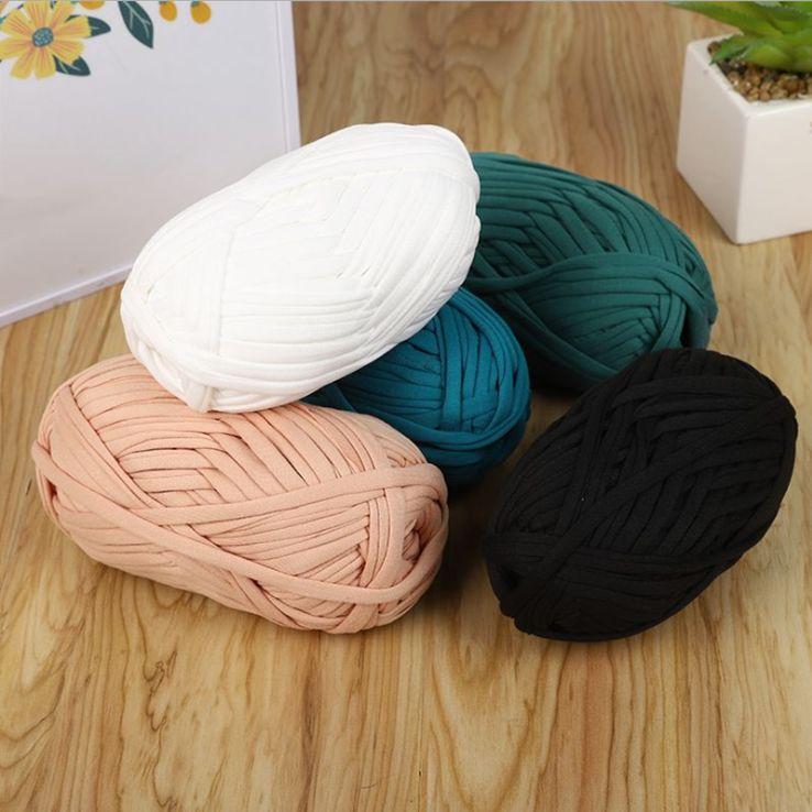 100 г хлопковая Толстая трикотажная ткань, пряжа для рукоделия, мягкие рандомные ковры, одеяло, детская корзина, сумки, подарки