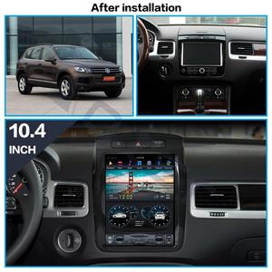 Автомобильный DVD-плеер Aotsr Tesla, вертикальный экран 10,4 дюйма, Android 8,1, навигация GPS для Volkswagen Touareg 2010-2017, carplay