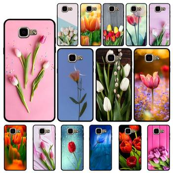 YNDFCNB Tulip flower Coque Shell Phone Case for Samsung A6 A8 Plus A7 A9 A20 A20S A30 A30S A40 A50 A70 image