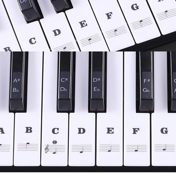 Hot Transparent Piano Keyboard Sticker 54/61 Key Electronic Keyboard Piano Sticker 88 Key Piano Stave Note Sticker for White Key 90pcs piano keyboard washer high quality piano tool hitch pin piano repair parts useful piano accessory