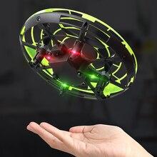 Mini latające UFO RC Drone ręcznie wykrywania helikopter Model Quadcopter Anti-kolizji flayaball elektryczny samolot zabawki dla dzieci