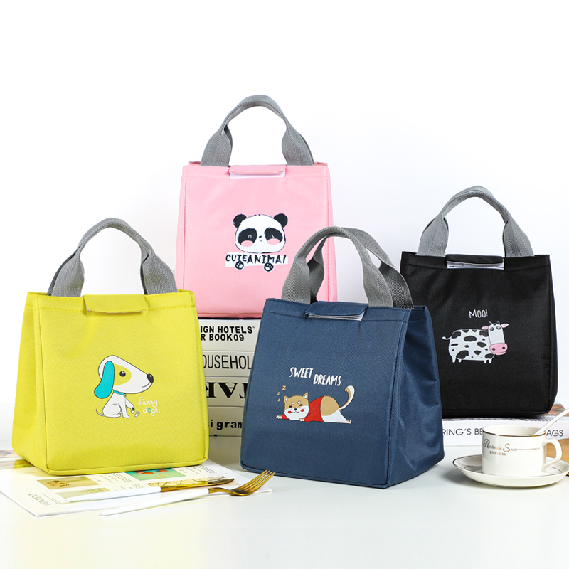 BRIVILAS cute lunch bag for kids insulation portable waterproof picnic cooler tote bag breakfast school handle reusable food bag