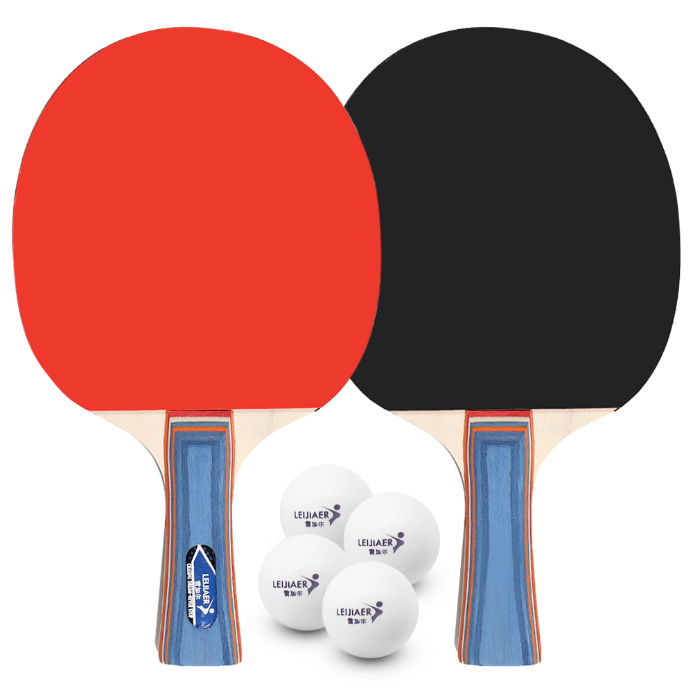 Best Quality Table Tennis Racket Ping Pong Paddle Set Table Tennis Rackets And 4 Balls With Cover Bag For 2 Players
