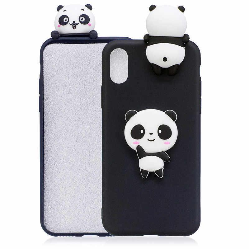 3D Gấu Trúc Dễ Thương Kỳ Lân Xương Rồng Ốp Điện Thoại Vào Funda iPhone 11 Pro XS Max X XR 6 6S 7 8 Plus 5 5S SE Nữ Trẻ