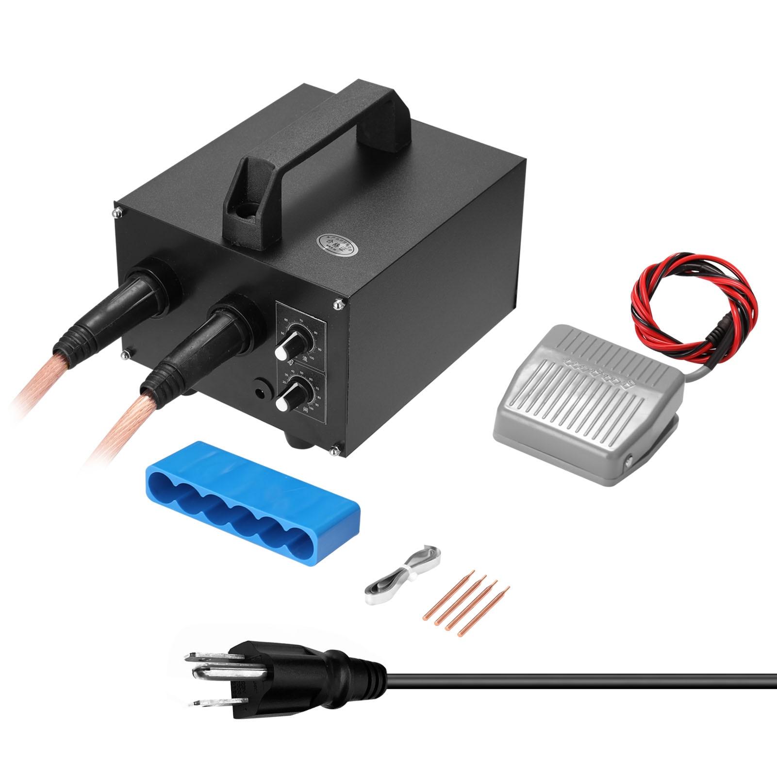 CX4500 Microcomputer Spot Welding Machine Set 20ms-1s Time Adjustable 640-1600A Current Adjustment For 0 25mm Nickel-clad Steel