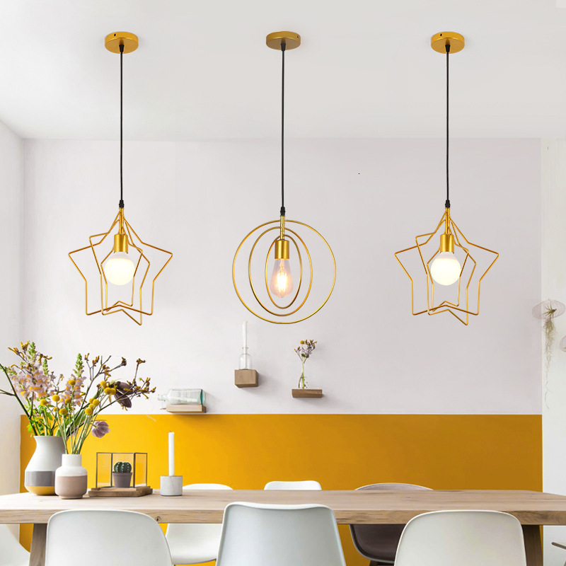 Vintage LED Wood Pendant Light Art Dining Room Modern Hang Lamp E27 Nordic Pendant Lights Living Room Restaurants Bar Droplight