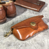 Genuine Cow Leather Glasses Case Box Handmade Hard Spectacles Sunglasses Bags Eyeglasses Cases Eyewear Holder Cover Accessories