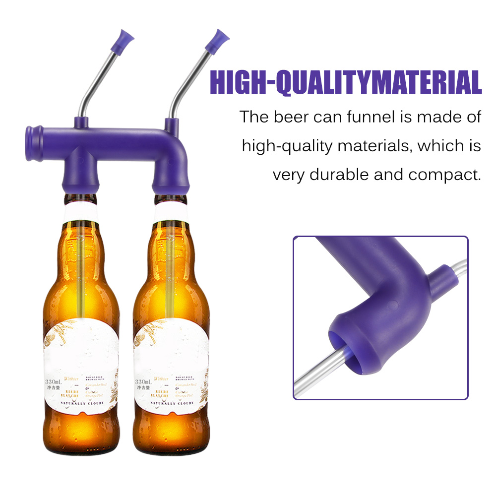 Double Beer Bottle Straw
