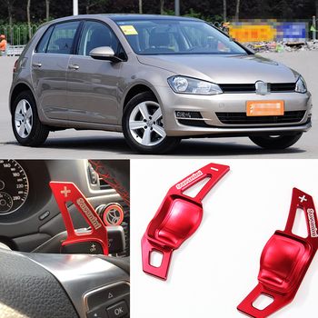 tommia 2pcs Steering Wheel Aluminum Shift Paddle Shifter Extension For VW GOLF MK6 2009-2015 Car-styling