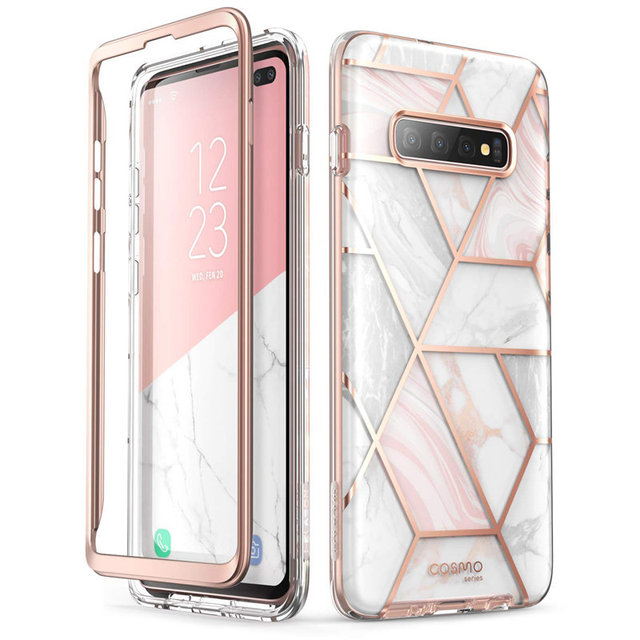 I BLASON For Samsung Galaxy S10 Plus Case 6.4 inch Cosmo Full Body Glitter Marble Cover Case WITHOUT Built in Screen Protector