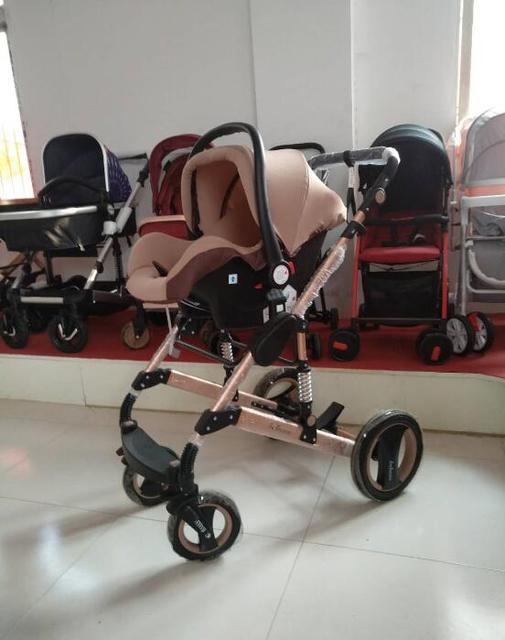 2 in 1 Baby Stroller, High Landscape Stroller, Luxury Portable Folding Stroller