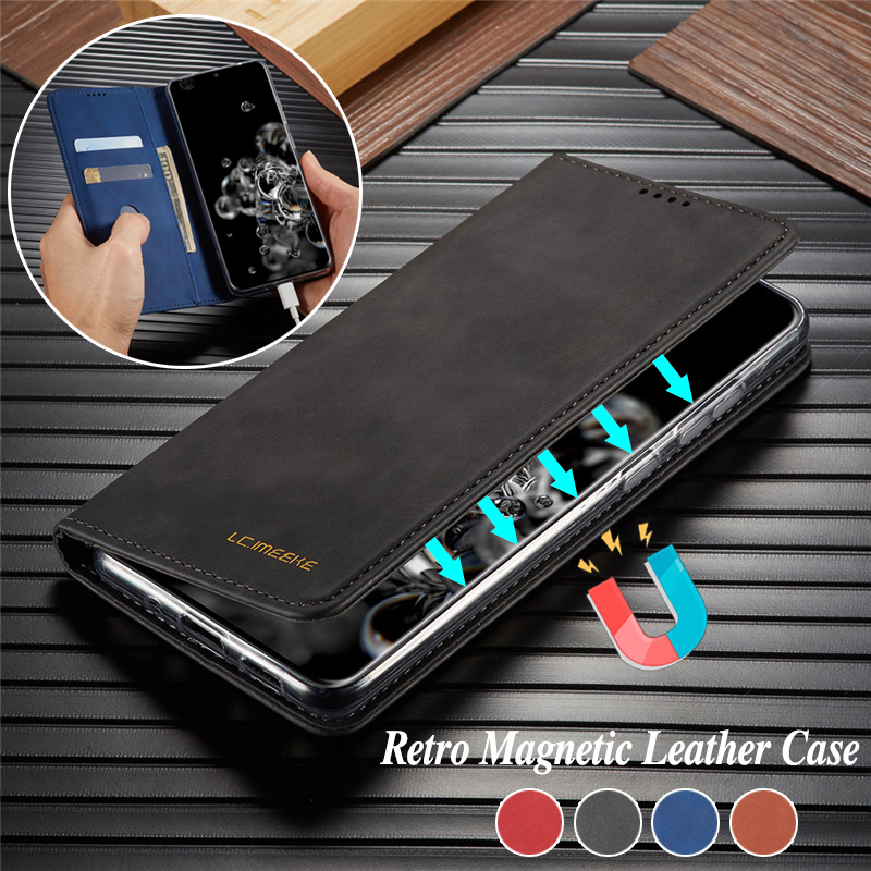 <font><b>Leather</b></font> <font><b>Flip</b></font> <font><b>Case</b></font> for <font><b>Samsung</b></font> S20 Ultra A51 A71 <font><b>A50</b></font> A70 A40 A30 A20e A10 Magnetic <font><b>Wallet</b></font> Cover for <font><b>Galaxy</b></font> S10 S9 S8 Plus <font><b>Cases</b></font> image
