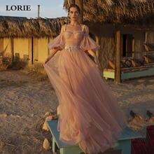 Lorie розовое ТРАПЕЦИЕВИДНОЕ шелковое Тюлевое свадебное платье