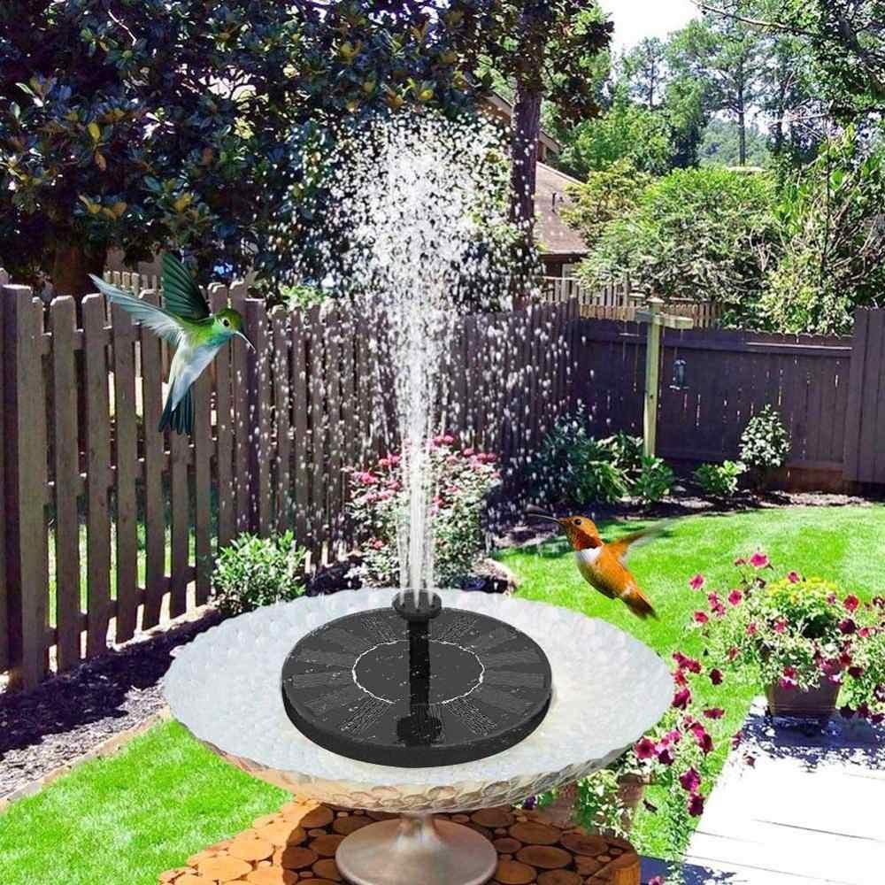 Air Mancur Bertenaga Surya Outdoor Pompa Mandi Burung Kolam Air Terjun Taman Dekorasi Kolam Renang Air Mancur dengan 1.4W Mengambang Birdbath