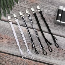 Винтажный хлопковый макраме Соска зажим плетеная соска цепь Детское Зубное кольцо держатель ремни унисекс дизайн