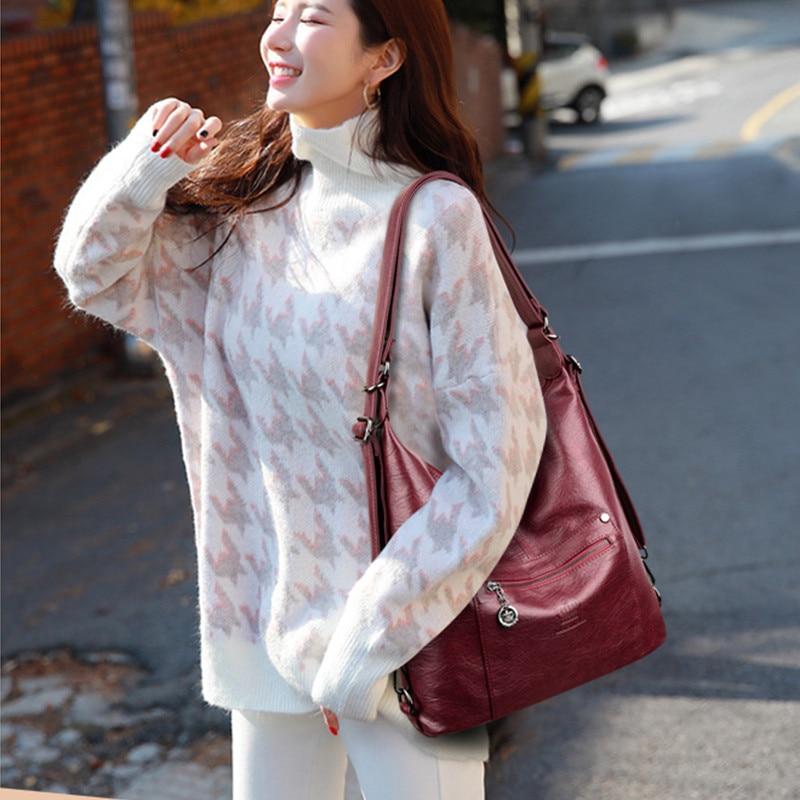 Image 2 - Brand Designer Handbags High Quality Genuine Leather Shoulder  Crossbody Bags For Women Bag Female Messenger Bag Ladies Hand  BagShoulder Bags