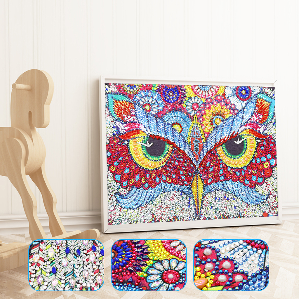 5D DIY Special Shaped Diamond Painting Love Embroidery Mosaic Kit Home Wall Arts