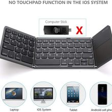 Portable thrice Folding Bluetooth Keyboard  Wireless Foldable Touchpad Keypad for IOS/Android/Windows ipad Tablet