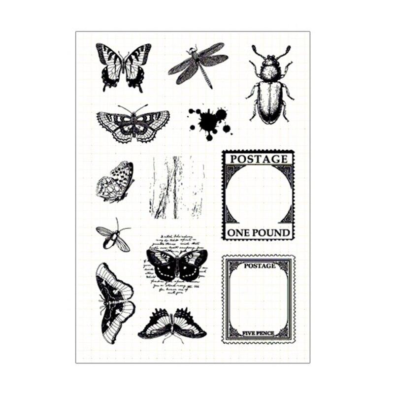 para manualidades /álbum de fotos sello transparente Sello de silicona con setas ninbo decoraci/ón