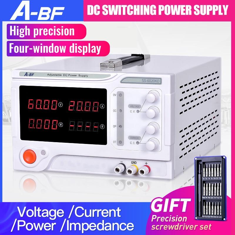 A-BF Einstellbare DC Geregelte Schalt Labor Netzteil Vier Stellige Anzeige 10A 20A 30A 50A Spannung Power Regler