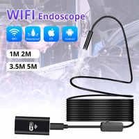KERUI Wireless 1m 2m 5m WiFi 1200P HD 8mm Endoscope Camera Wifi Outdoor USB Endoscope Borescope Inspection Android iPhone Camera