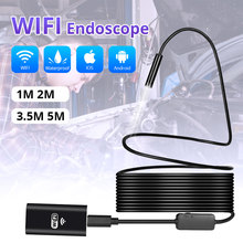 KERUI Wireless 1m 2m 5m WiFi 1200P HD 8mm Endoscope Camera Wifi Outdoor USB Borescope Inspection Android iPhone