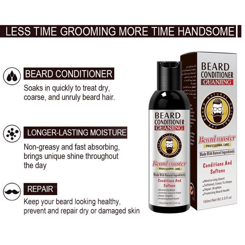 Men's Beard Shampoo Deep Cleansing Nourishing Beard Cleanser Wash Moisturiser Deep Cleansing Beard Conditioner 100ml