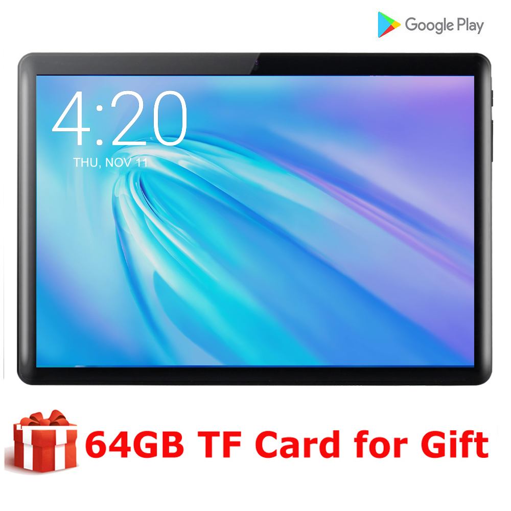 NEW 10 Inch Quad Core Android 9.0 Tablet PC Google Play Phone Call 3G Dual SIM Card 1280x800 Display GPS Wifi Tab 10.1