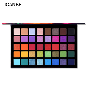 Image 2 - UCANBE זרקור 40 צבע צלליות צבעים צבעוני אמן שמר גליטר מט פיגמנט אבקה לחוץ צלליות ערכת איפור