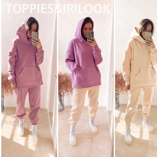 toppies Loose Oversize Hoodies Woman Sweatshirt autumn winter Female fleece hoodies 2020 women Sweat-shirts 6