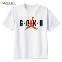 Japan Anime Dragon Ball Z T Shirt Summer Men Short Sleeve Cotton Son Goku Air Tee