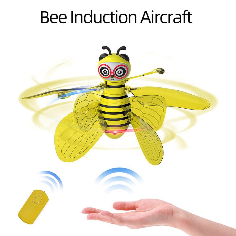 brinquedo voador rc animal rc abelha inducao infravermelha eletronica aeronave mao sensor de controle portatil brinquedos