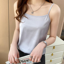 Spaghetti Strap Top Camisole Female Solid Sleeveless T-Shirt Color 2021 Summer New Basic Women's Clothes House Wear Pluz Size
