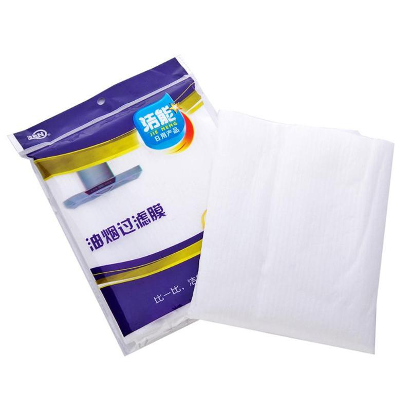 12 Pcs Clean Cooking Nonwoven Range Hood Grease Filter Kitchen Oil Filter Papers Good Material And Good Air Permeability