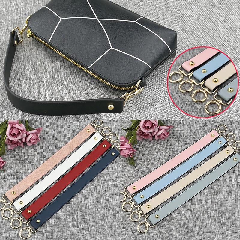 40cm Vintage Replacement Bag Straps Colorful Serpentine PU Leather Handbags Straps Handle Short Belt Women Accessories For Bags