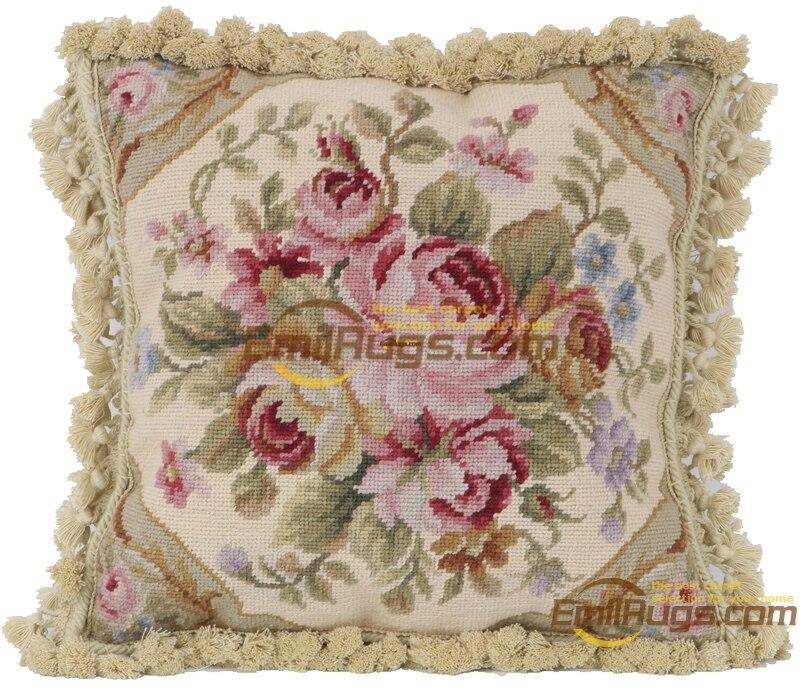 Baquout almofada do assento Sofá aubusson Decorativo Lance Interior Decoração Quadrados de lã Aubussion Tampa Quadrada - 4