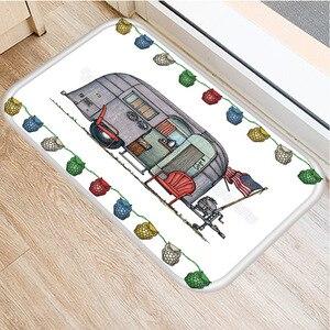 Image 2 - RV Wagon Non slip Bedroom Decoration Soft Carpet Kitchen Floor Living Room Floor Mat Bathroom Non slip Mat Door Mat 40x60cm   ..