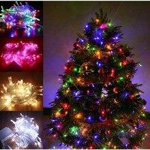 10-50 м светодиодный светильник s уличный светильник с европейской вилкой праздничный светильник ing Гирлянда Декор для сада Рождество Свадьба вечеринка