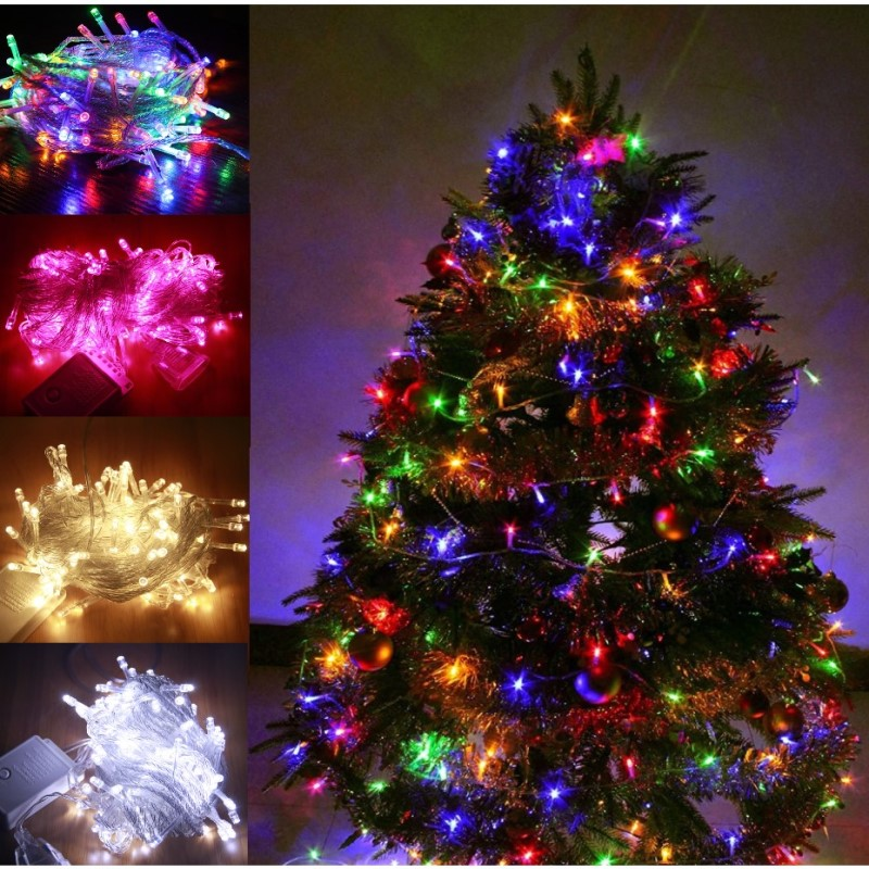 10-50M LED String Lights Outdoor Street Light EU Plug Holiday Lighting Garland Decors For Garden Xmas Christmas Wedding Party