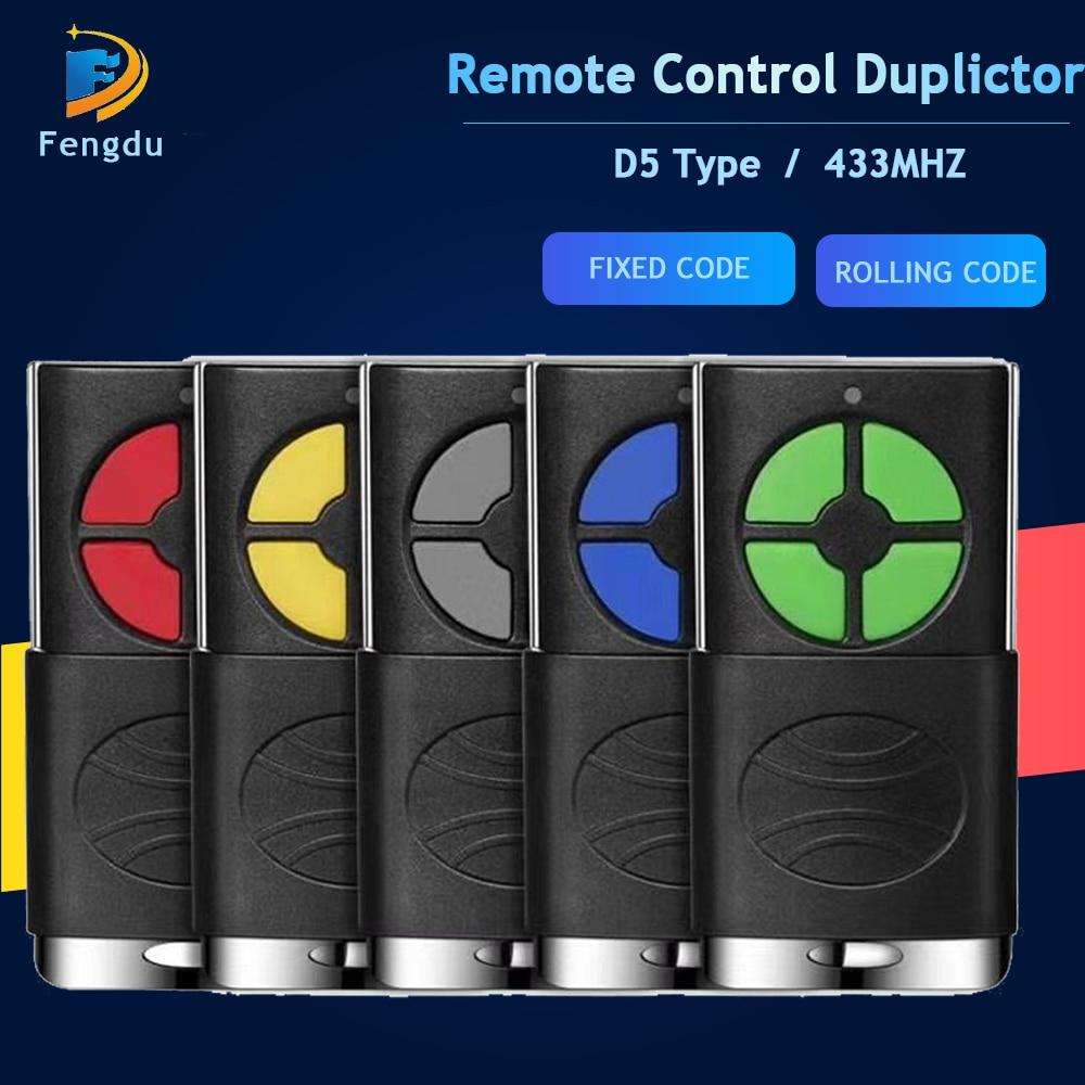 2 in 1 garage door remote control 433MHZ opener Cloning 4 key Auto Car Rolling Code gate 433 remote control duplicator
