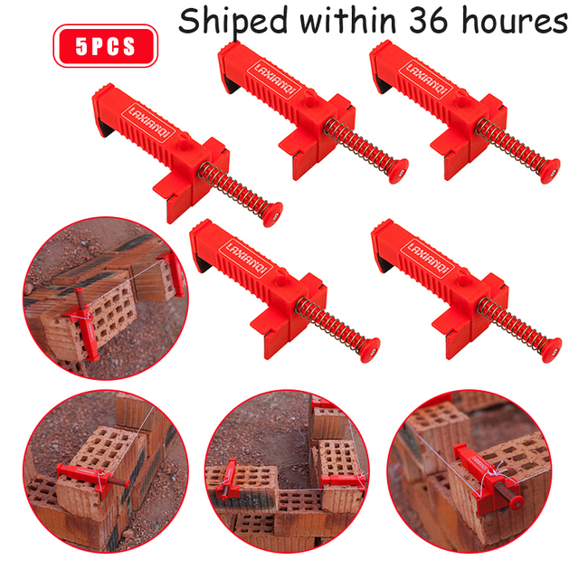 5PCS Liner Wall builder building wire frame brick Liner Runner Wire Drawer Bricklaying Tool Fixer for Building Construction