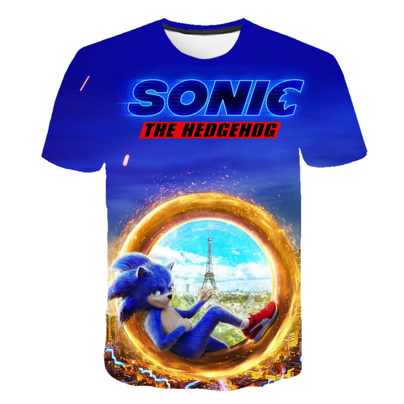 3D Print Children Sonic The Hedgehog Boys Girls Tops Tees Cartoon Design Funny T-Shirts Kids Summer Casual Clothes For Toddler