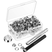 Sewing-Eyelets Grommet-Tool-Kit Home-Hole-Punch Leathercraft Rivet Brass DIY Round Fastener