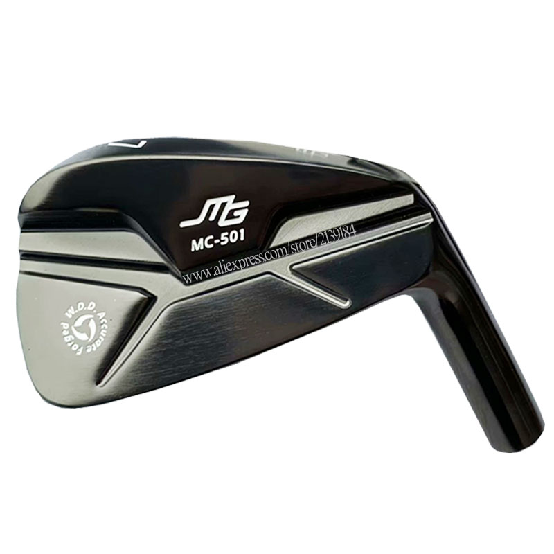 Cooyute Free Shipping New Golf Head MIURA MG MC-501 FORGED Golf Irons Set 4-9.P MC-501 Black Club Irons Head No Golf Shaft