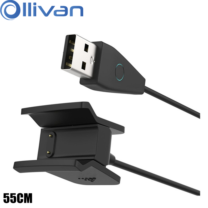 Ollivan High Quality USB Charging Cable For Fitbit Alta HR Smart Watch Charger Wire Replacement Charger Cord With Reset Button