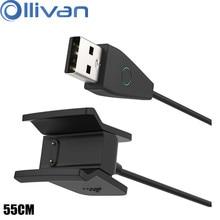 Ollivan alta qualidade cabo de carregamento usb para fitbit alta hr relógio inteligente carregador fio substituição carregador cabo com botão reset