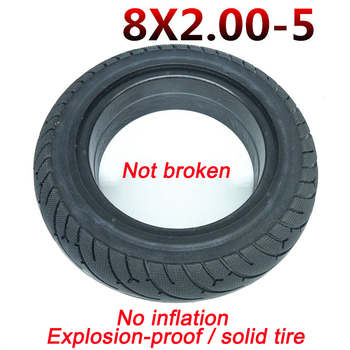 8 inch electric scooter free inflatable explosion-proof solid tire 8X2.00-5 free inner and outer tire thick wear-resistant suitable for xiaomi m365 electric scooter solid honeycomb explosion proof stab proof tire free inflatable rubber tire 8 5 2 0