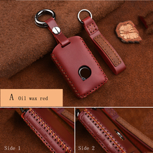 Car Key Case Bag, for Volvo Decoration, Pure Hand-made Crazy Horse Leather Retro Personality Cover