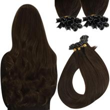 VeSunny U Tip Fusion Extensions Prebonded Tipped Extensions Virgin Hair Extensions Full Coverage Nail Tips Human Hair